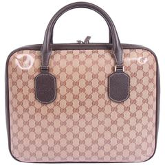 Gucci GG Guccissima Patterned Laptop Case - brown