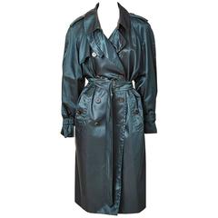 Yves Saint Laurent Petrol Green Classic Trench