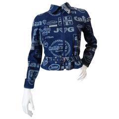 John Galliano Formula 1 Denim Moto Jacket
