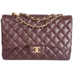 Chanel 2.55 Timeless Jumbo Single Flap Bag - brown leather