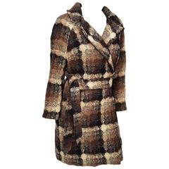 70s Lilli Ann Wool Plaid Coat