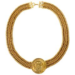 1980s Chanel Medallion Choker Necklace