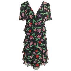 80s Holly Harp floral print dress