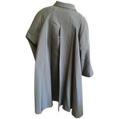 Christian Dior Gianfranco Ferre Era Silk Swing Belted Trench Coat