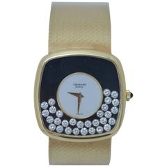 "Chopard 1St Edition ""Happy Diamonds "" 18K Gold  1970's Deco Style Watch  Mint"