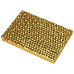 Italian Gilt Bronze Bamboo Motif Box, Bonwit Teller