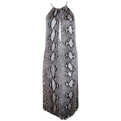 2000 TOM FORD for GUCCI python print jersey runway dress - unworn