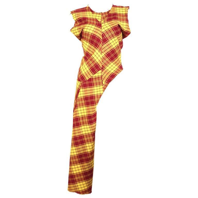 1993 COMME DES GARCONS plaid 'half dress'