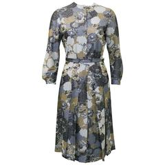 1960's Jaeger Floral Lurex Cardigan and Skirt Ensemble