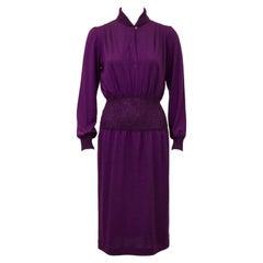 1980's Missoni Orchid Purple Knit Dress