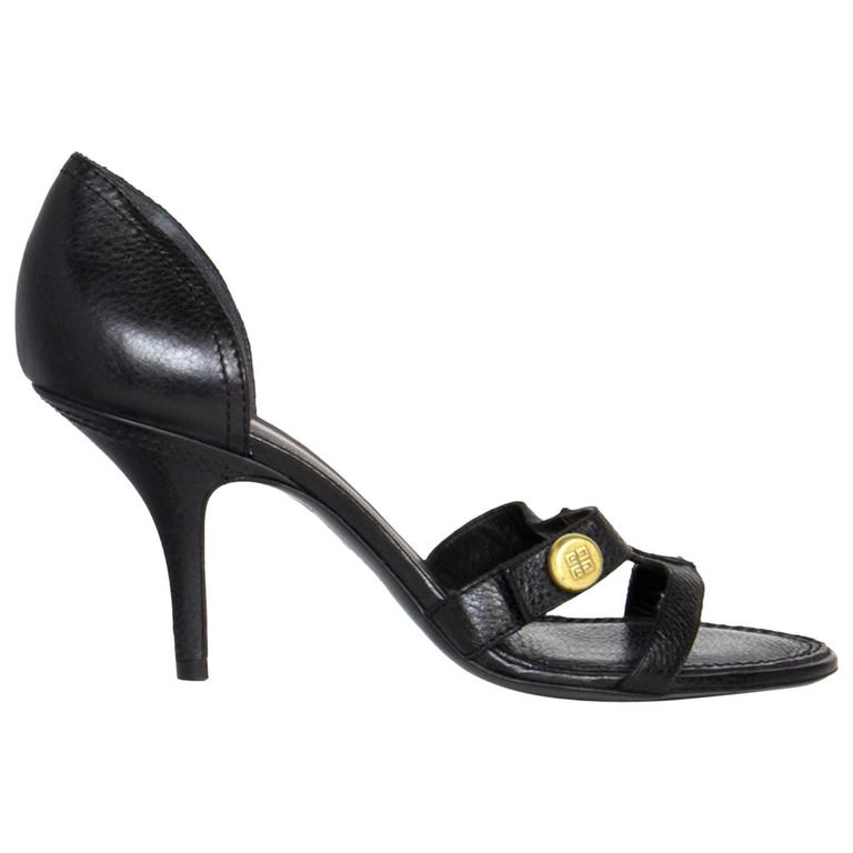Givenchy Black Heeled Sandals