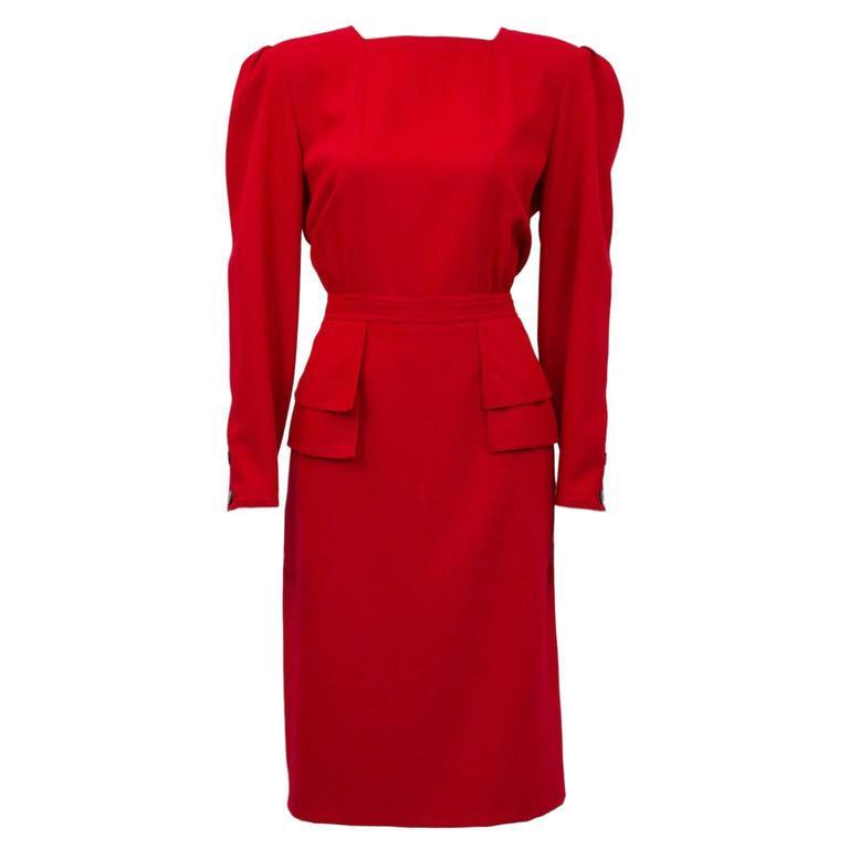 1980's Valentino Red Dress