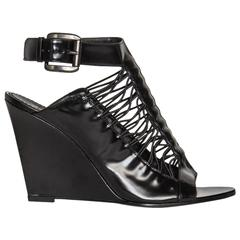 Givenchy Black Wedge Sandals