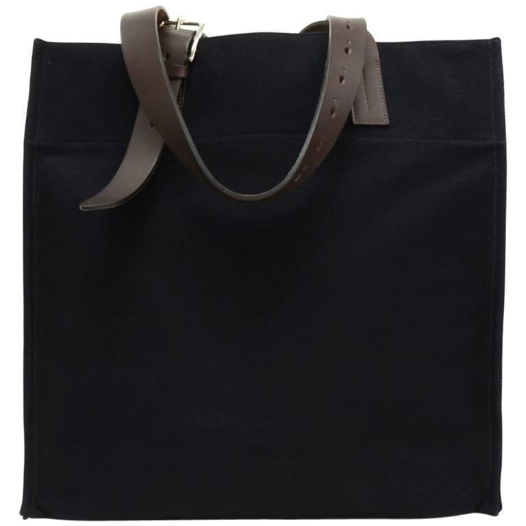 79a4f2f17b3e ... canada hermes etriviere navy canvas x leather xl tote bag for men for  sale f2aa4 b558d
