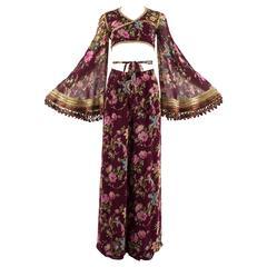 Dolce & Gabbana Spring-Summer 1994 silk chiffon gypsy pant suit