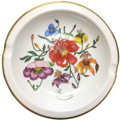 MINT. 70's vintage Richard Ginori for Gucci ceramic plate, porcelain ashtray.