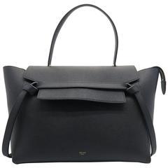 Celine Belt Bag GM Black Calfskin Leather Top Handle Bag