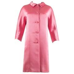 Balenciaga 1963 Haute Couture hot pink silk evening coat