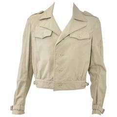 Yohji Yamamoto Y's Beige Cropped Safari Style Jacket 1980's