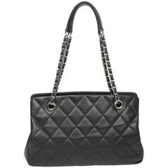 Chanel Timeless Shopper Tote Black Quilted Leather