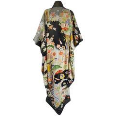 Japanese Furisode Kimono Of Ceremony Circa 1930