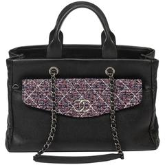 Chanel Shopper Tote Tweed/Caviar