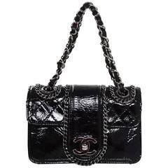 Chanel Black Patent Mini Madison Flap Bag