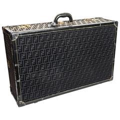 Rare Fendi Zucca Pattern Hard Sided Suitcase Trunk