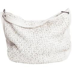 Bottega Veneta Large Woven Hobo in White Leather