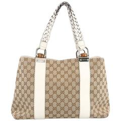 Gucci Bamboo Bar Tote GG Canvas Medium