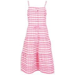 1970s Gorgeous Courrèges Pink Cotton Dress