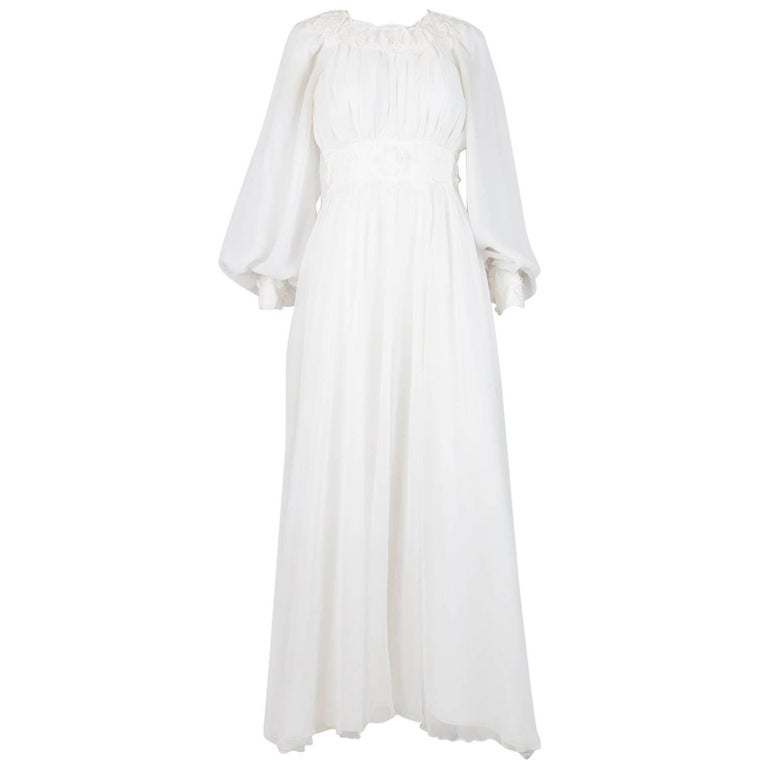 1977s Wedding Dress Attributed  to Jacques Heim for Pronuptia