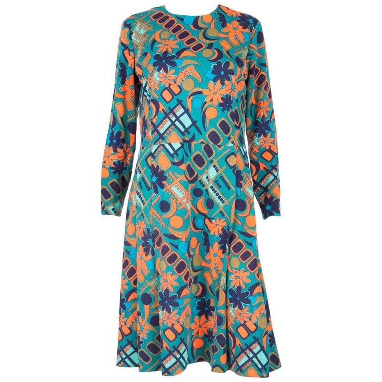 1960s Multico Tissus Leonard Dress