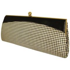 Long Black and White Checked Clutch  Summer!
