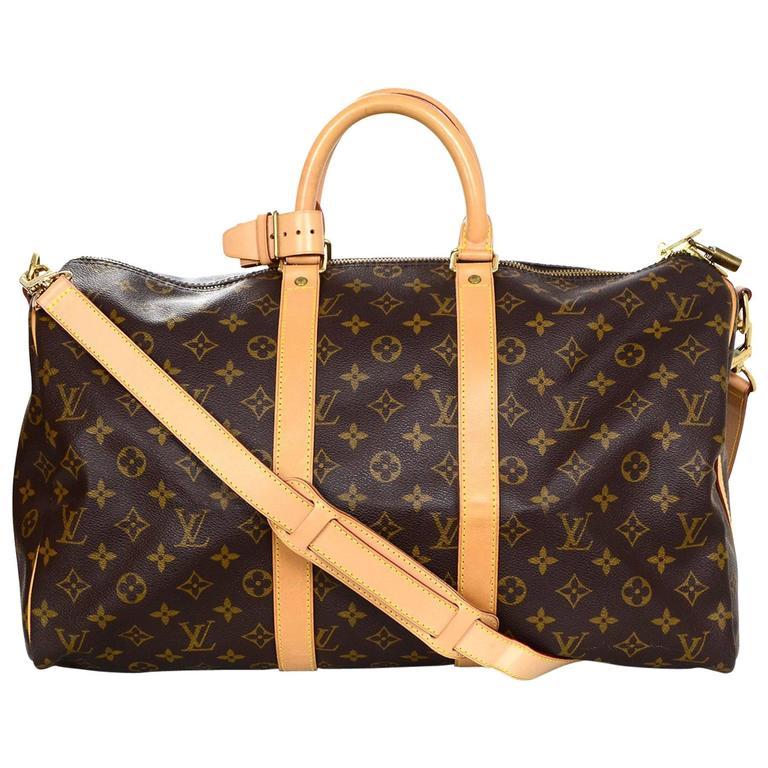 louis vuitton monogram keepall 45 duffle weekender bag at 1stdibs. Black Bedroom Furniture Sets. Home Design Ideas