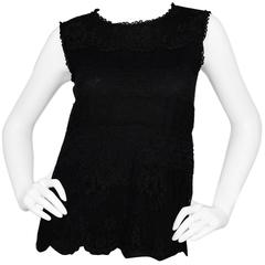 Dolce & Gabbana Black Lace Sleeveless Top sz IT38