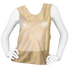 Vera Wang Metallic Gold Sleeveless Top sz S