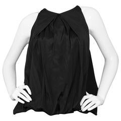 Donna Karan Black Silk Sleeveless Balloon Top sz P