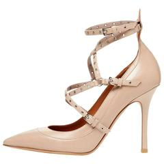 Valentino New Nude Tan Cut Out Strappy Sandals Heels in Box