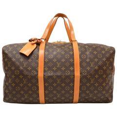 Vintage Louis Vuitton Sac Souple 55 Monogram Canvas Duffle Travel Bag