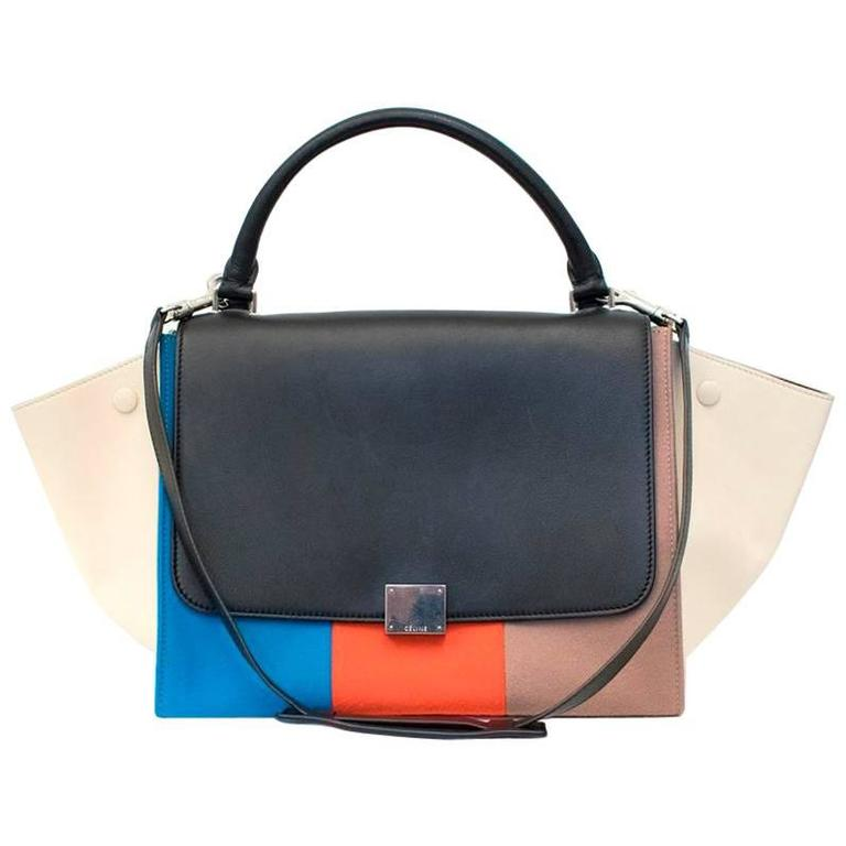 Celine Multicolor Felt Trapeze Bag