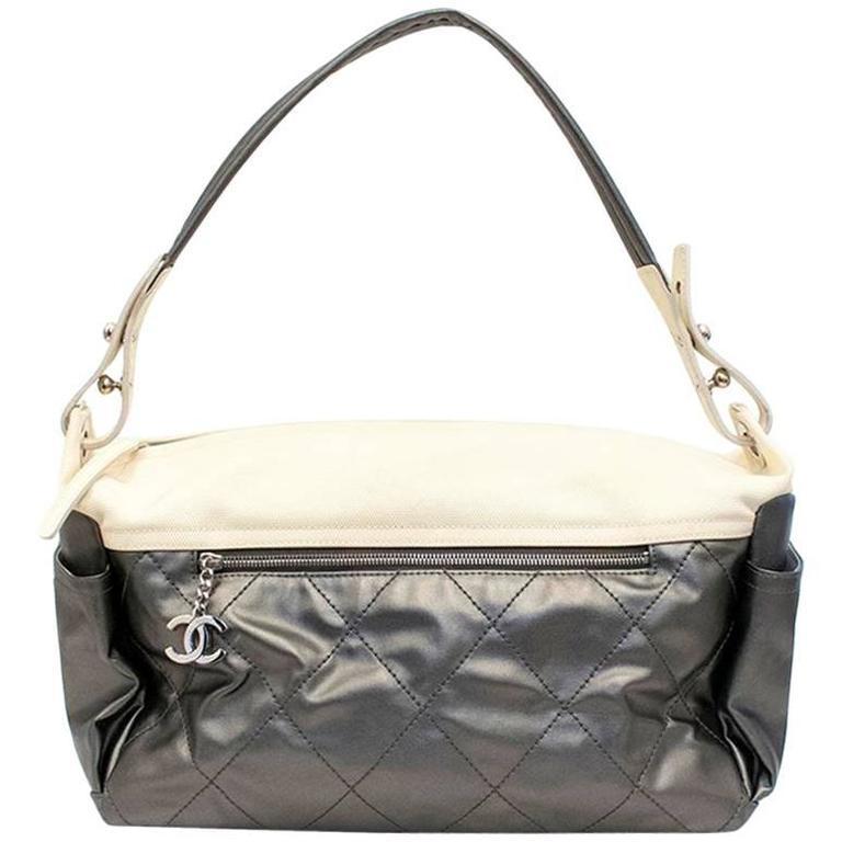 Chanel Silver and Cream Bag