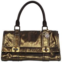 Lanvin Gold Iridescent Handle Bag