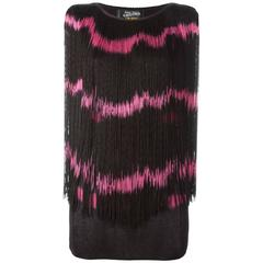 1985 JEAN PAUL GAULTIER  Tye-dye effect fringed top