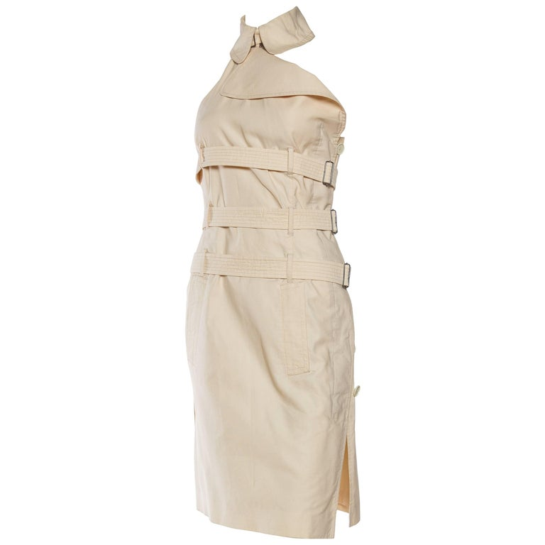 Phenomenal Jean Paul Gaultier Straight Jacket Trench Coat Dress