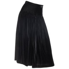 Valentino Pleated Velvet Skirt