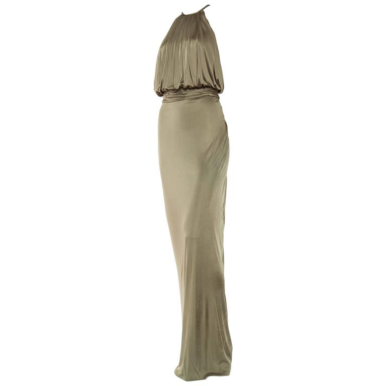 Versace Slinky Backless Jersey Gown