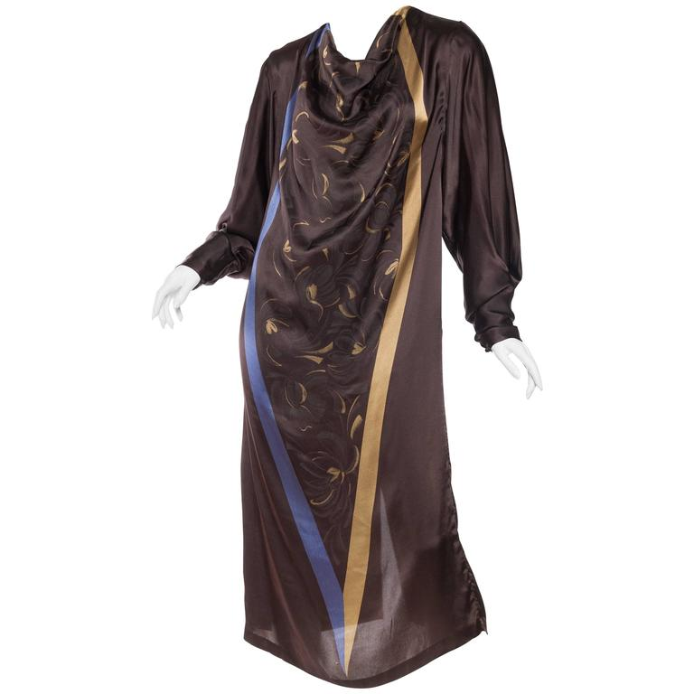 1980s Gianni Versace Satin Tunic Dress