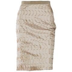 Piazza Sempione Geometric Applique Skirt