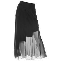 1980s Karl Lagerfeld Sheer Memphis Deco Skirt